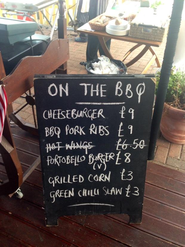 bbq menu